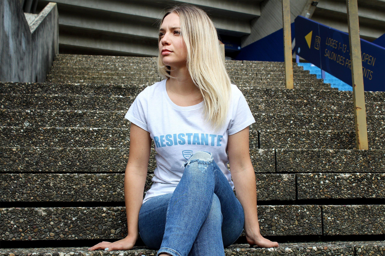 Femmes de Foot t-shirt résistante - Octobre Rose