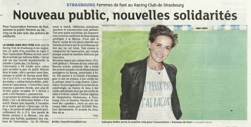 article DNA association femmes de foot