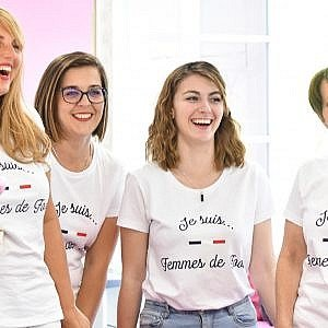 T-shirt Je suis Femmes de Foot