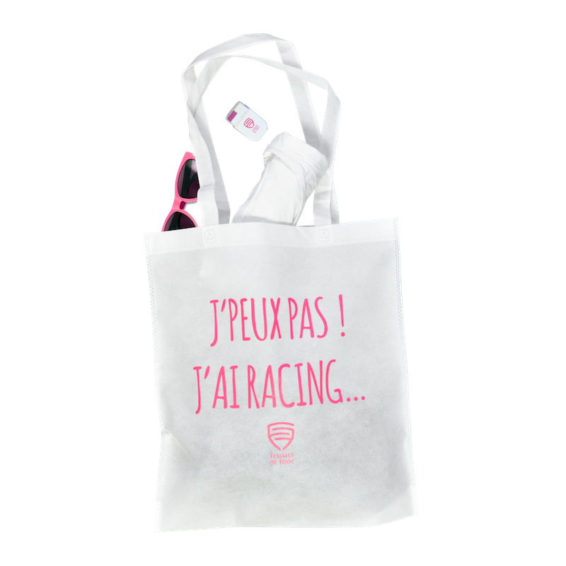 Tote bag supportrice J'peux pas ! J'ai Racing... 2019